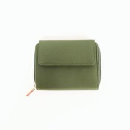 Portemonnee - stof - groen