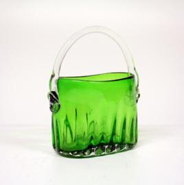 Groen Glazen Hengsel Vaas