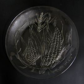 Dinerbord -Ø 23.5 cm - Duralex - decor van Maïskolven - Gehard Glas