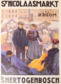 Affiche / poster St. Nicolaasmarkt 's Hertogenbosch - print