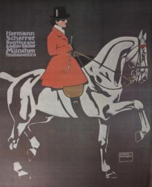 Affiche Ludwig Hohlwein Hermann Scherrer 1920 - Print