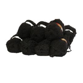 Wol  - Fluffy - Zwart - 11x
