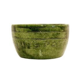 """Bloempot - Binnen - Groen - """" Granny's Pottery """" - Voor Oma"""