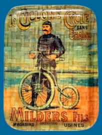 Dienblad - Print met oude fietsreclame Milders Fils