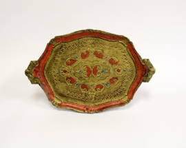 Brocante dienblad in barok stijl