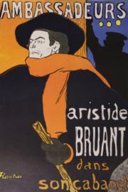 Poster T. Lautrec Ambassadeurs Aristide Bruant dans son cabaret 1892 - Print