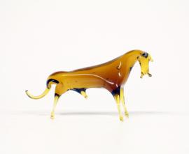 Glazen stier figurine