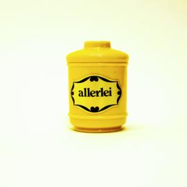 Klein opberg potje - Allerlei - Geel - Retro
