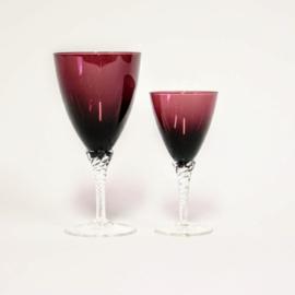 Vintage Bohemian Wijnglazen 2 stuks