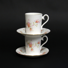 Royal Albert - Peach Rose - 2x kop en schotel