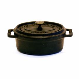 Braadpan -  15 x 8,5 cm - Staub La Cocotte - Ovaal - Zwart