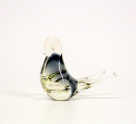 Glazen vogel figurine