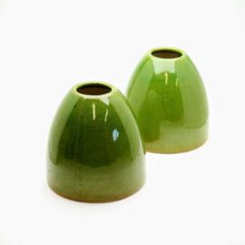 2 Groene Vazen