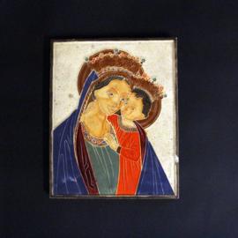 Cloisonné siertegel - Westraven - Maria met kind