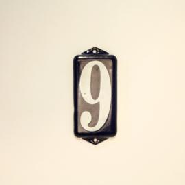 Emaille Cijfer 9