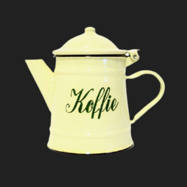 Emaille Koffiekan (netje)