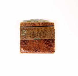 Vintage knip portemonnee met goudkleurige knip