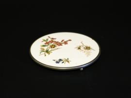Onderzetter van Porselein en metaal - Vintage