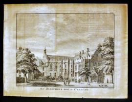 Hendrik Spilman - Het Bisschops Hof, te Utrecht - Kopergravure - ca. 1750
