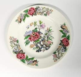 Wedgwood of Etruria & Barlaston bord met bloemen en vogels