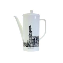 Koffiepot - Villeroy & Boch - Amsterdamse Grachtenservies - Westertoren / Montelbaanstoren