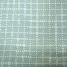 Coupon - Stof - Licht Groen / Ruit - 53 cm x 159 cm