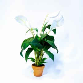 Kunstplant Spathiphyllum wit