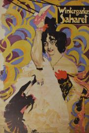 Art Nouveau Affiche / poster - Wintergarten Saharet Ernst Neumann 1903 - print