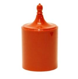 Deksel potje - Oranje - Retro