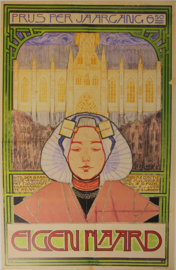 Affiche / poster Nieuwenkamp voor blad Eigen Haard 1896 - print