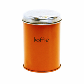 Koffie Voorraadblik - Oranje - Retro