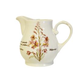 Melkkannetje - Libelle Exclusief Porcelein - Wilgeroosje