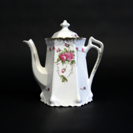 Koffiepot met roosjes - rozendecor