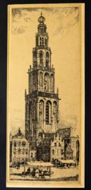 Jan Sirks (1885-1938) - Martinitoren Groningen - Ets