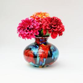 Vrolijk gekleurd Vaasje - Bolvaas