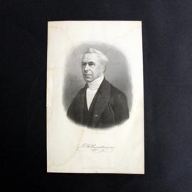 Dirk Jurriaan Sluyter (1840-1886) - Portret met handtekening van T.C.R. Huydecoper - Midden 19e eeuw