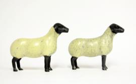 Suffolk Schapen Beeldjes - brons