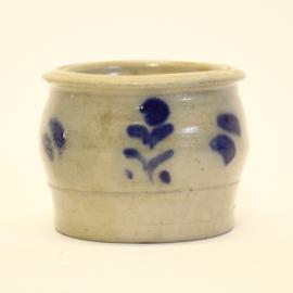 Keulse pot - Boterpot / Zoutpot - Gres - Bloempot - Ø 13,5 cm x H 11 cm
