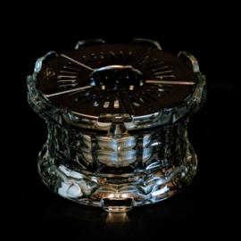 Theelicht - Geperst Glas