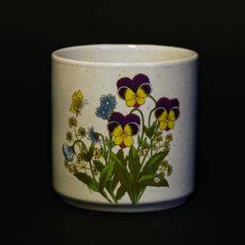 Pot / Bloempot - Ø 10,5 x H 10,5 cm - Bloemen Decor