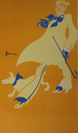 Affiche / poster Man met hond - Print