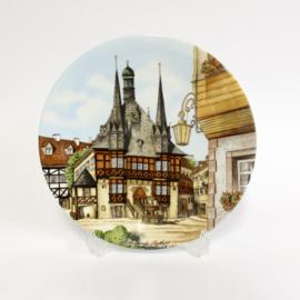 Villeroy & Boch - Heinrich Mettlach - Wandbord Rathaus Wernigerode