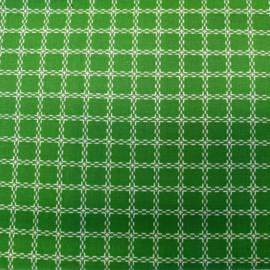Coupon - Stof - Groen / Ruit - 90 cm x 158 cm