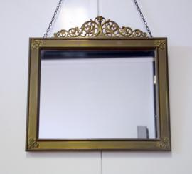 Engelse antieke Spiegel van Messing