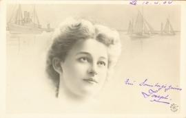 Oude Franse ansichtkaart - beschreven