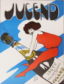 Affiche / poster Jugend Sekt Champagne poster 1897 F.D. - Print