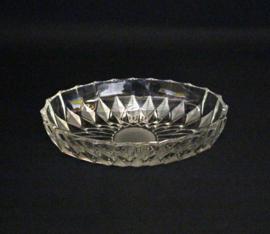 Vintage glazen presenteer schaaltje ovaal