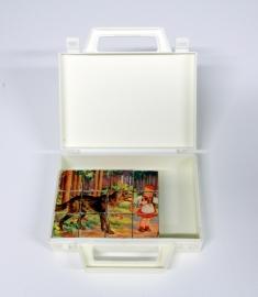 Vintage sprookjes blokkendoos puzzel