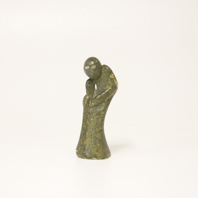 Afrikaans Sculptuur - Beeldje van speksteen