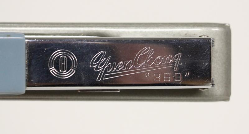 """Vintage Nietmachine Yuen Chong """"369 """", lichtblauw"""